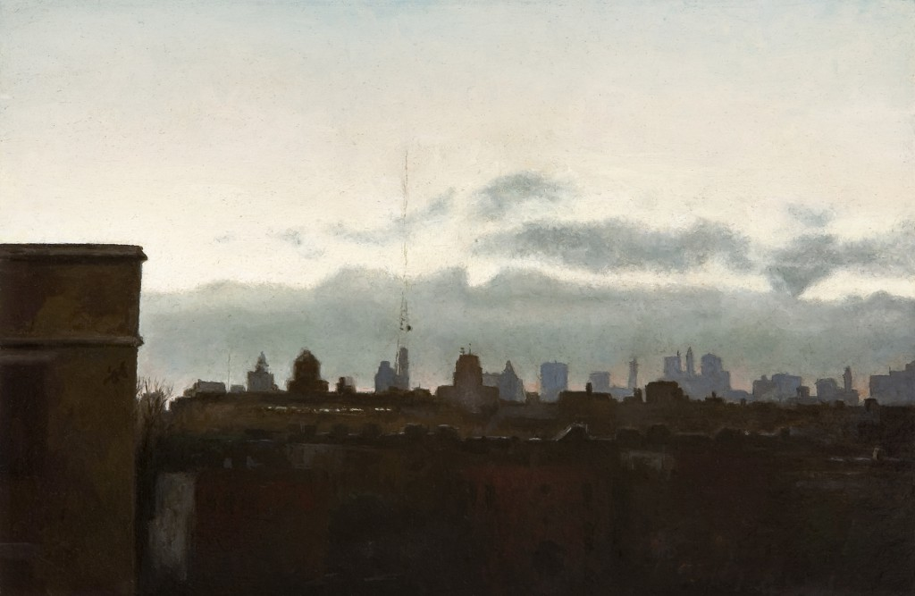 Cityscape I | 6 x 9 inches | oil on panel