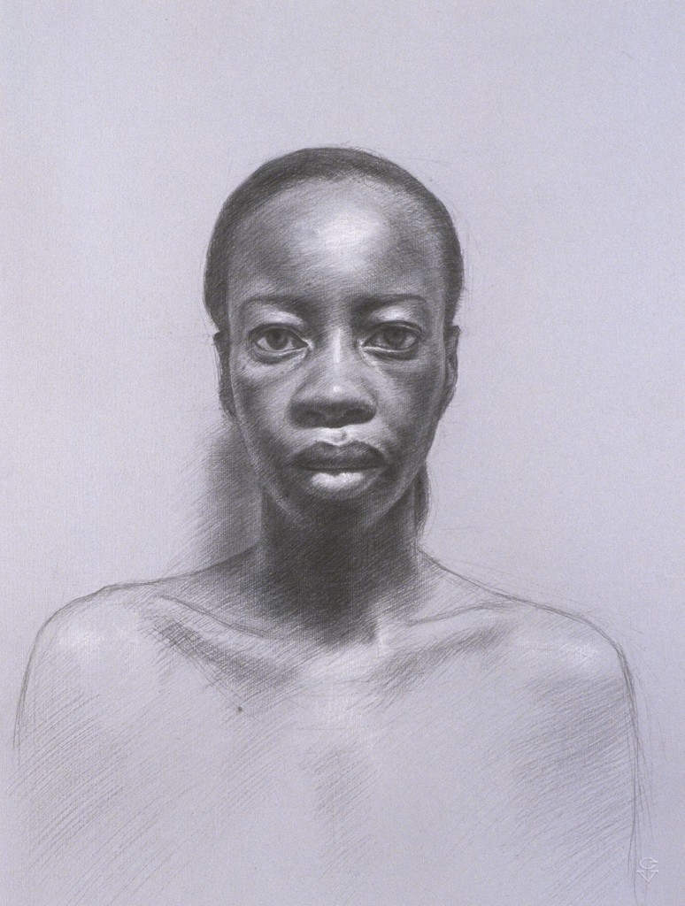 Connie VII | 15.5 x 11.5 inches | graphite and white chalk on paper