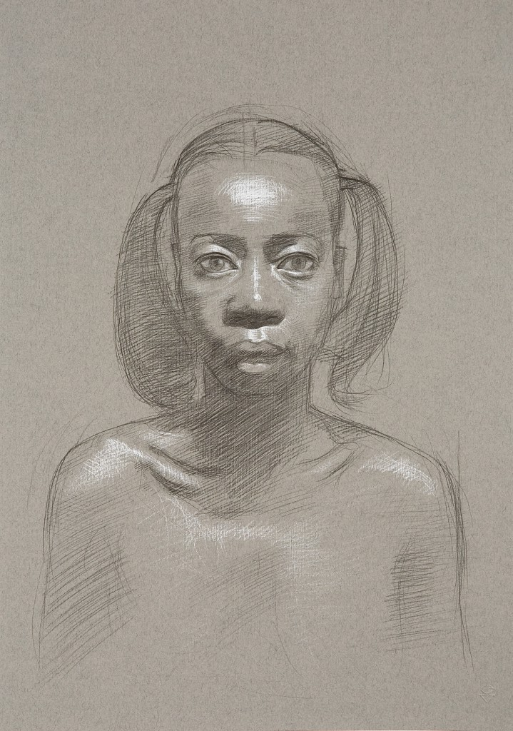 Connie XIII | 16.5 x 11.5 inches | graphite/white chalk on paper