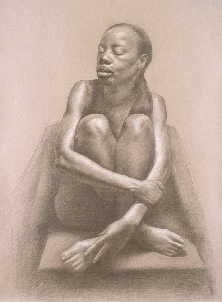 Connie XVI | 25.5 x 19 inches | graphite/white chalk on paper