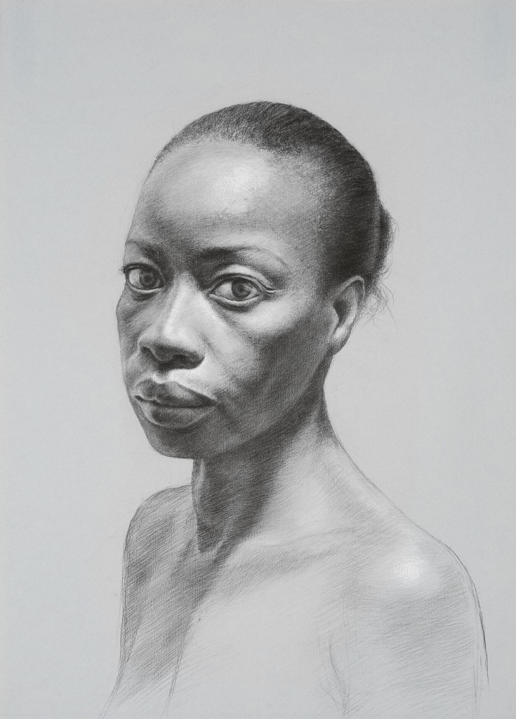Connie XX | 16.5 x 11.75 inches | graphite and white chalk on paper