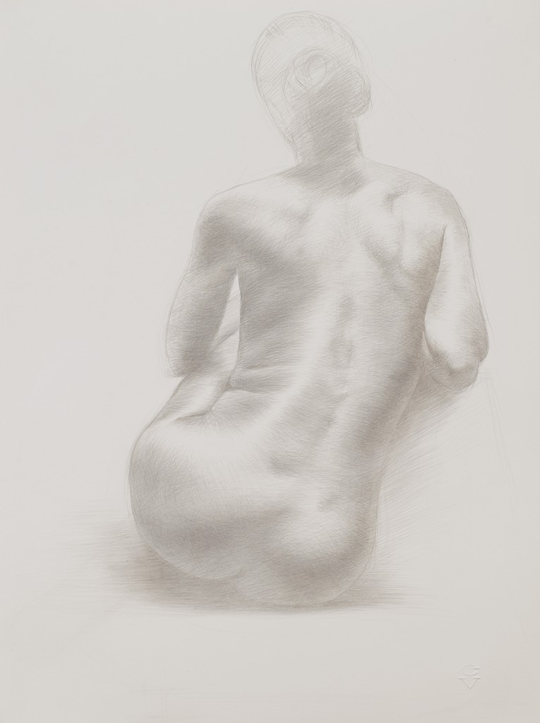 Connie XXIV | 11.5 x 9.5 inches | silverpoint on paper