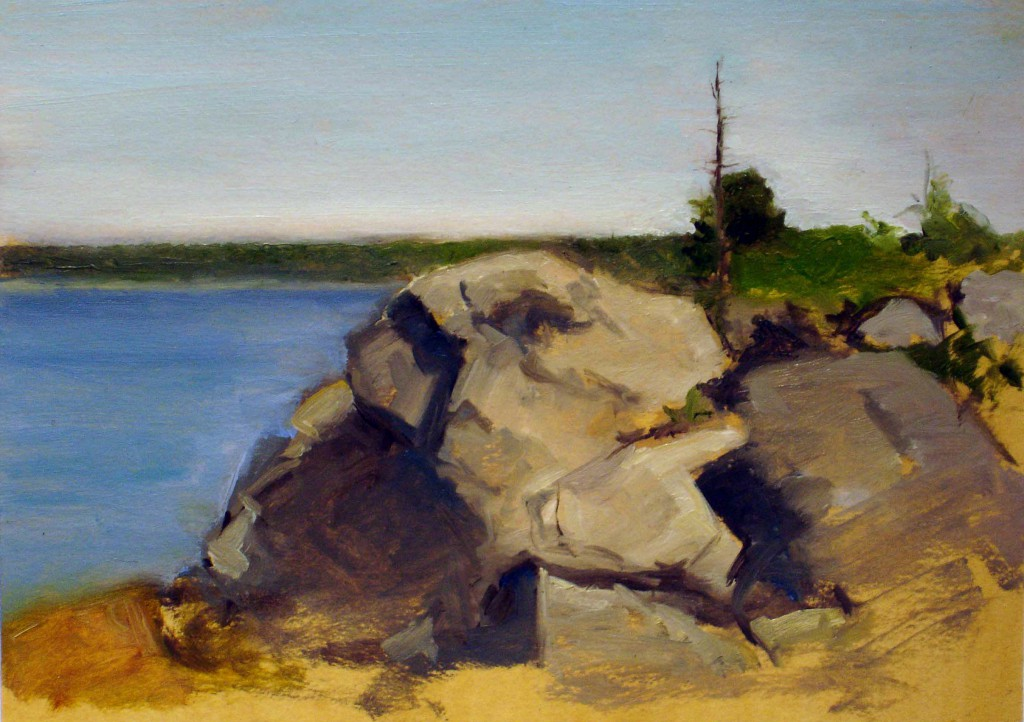 Maine III   5 x 7 inches   oil on panel