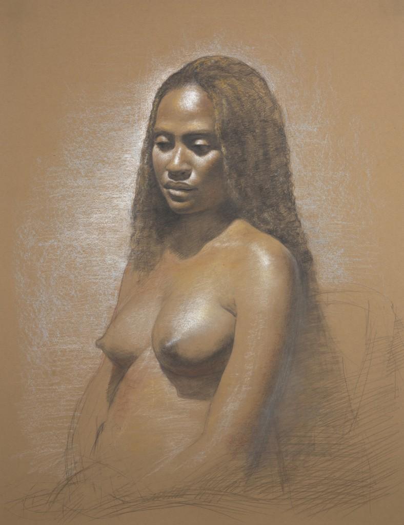 Nicole III | 26 x 20 inches | chalks on paper
