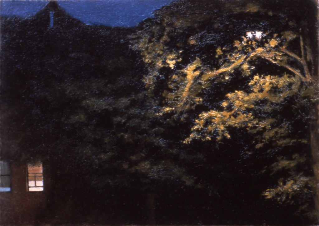 Night Lights I | 5 x 8 inches | oil on panel
