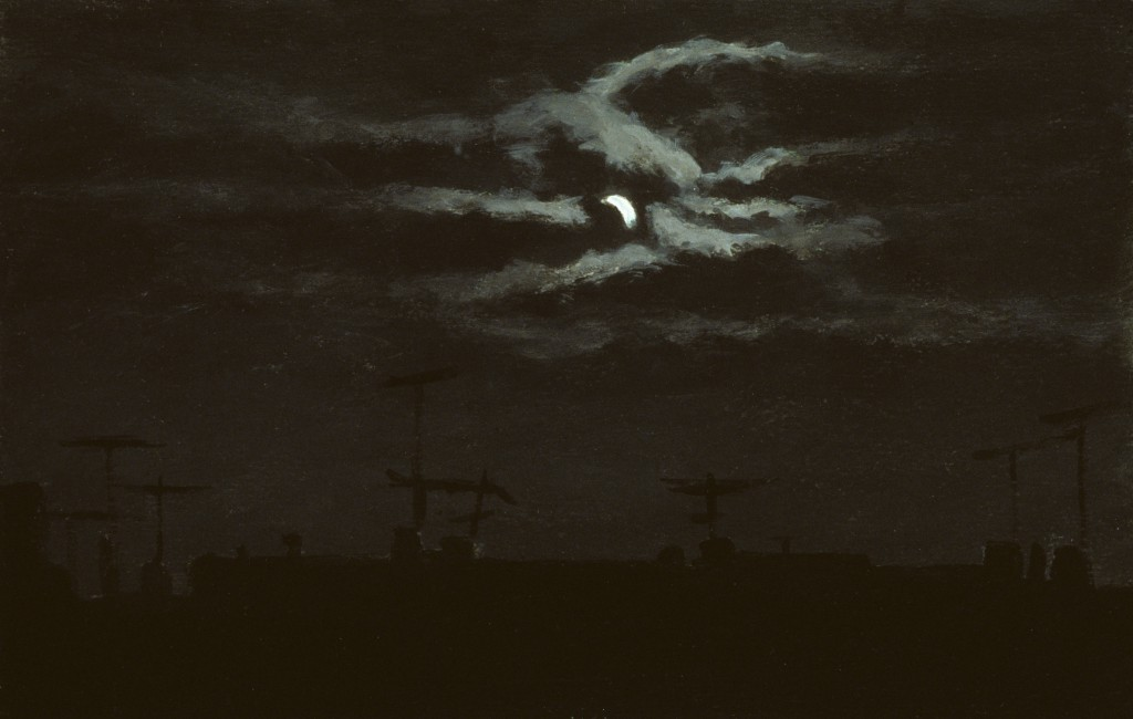 Night Sky Study I | 8 x 13 inches | acrylic on paper