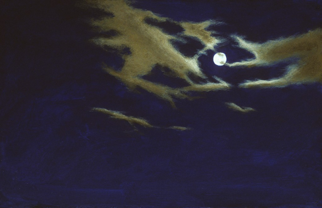 Night Sky Study II | 8 x 13 inches | oil on paper