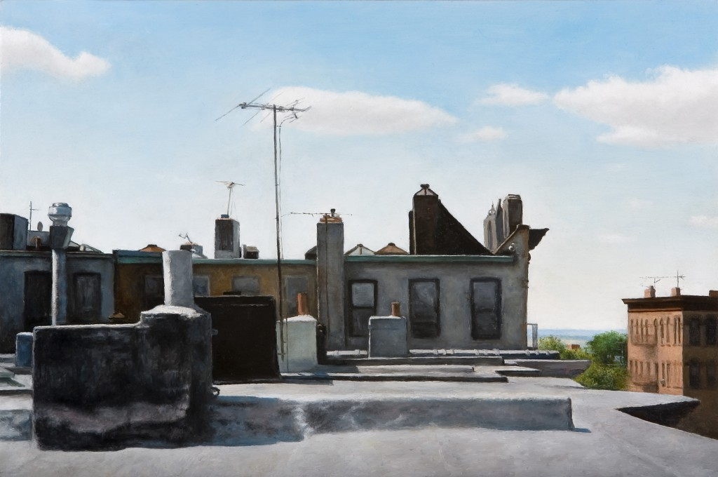 Rooftop I | 10 x 15 inches | oil on panel