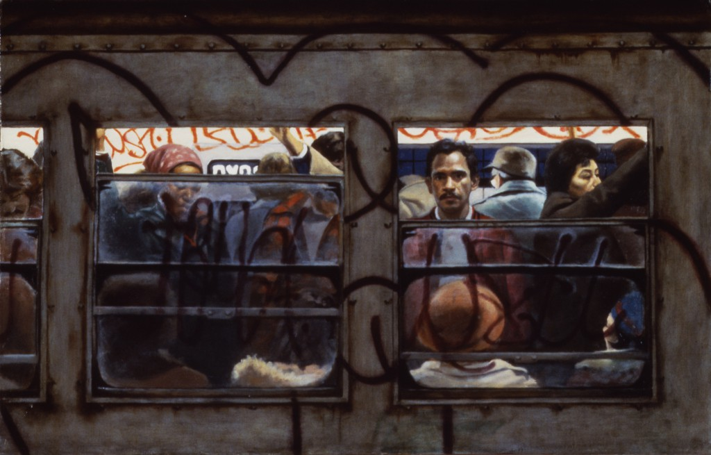 Subway Car | 16 x 28 inches | oil on canvas