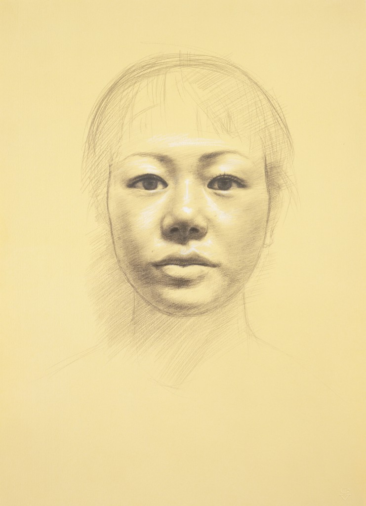 Yuko VII | 16 x 11.5 inches | graphite and white chalk on paper