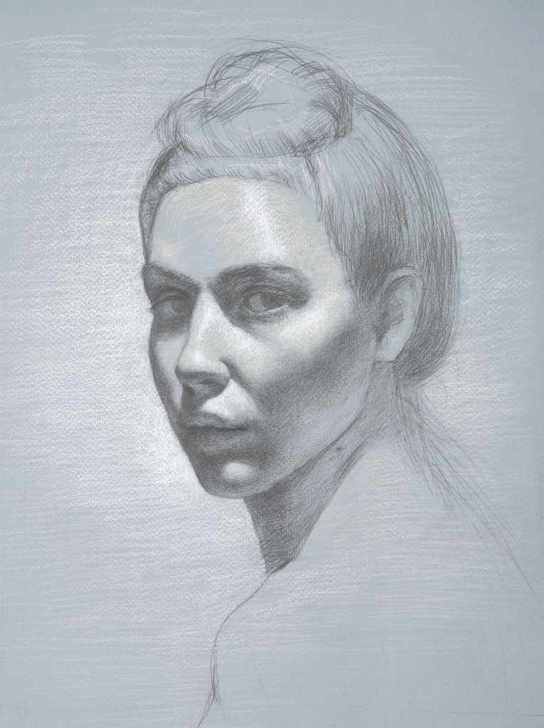 Loni III | 14.5 x 11 inches | graphite and white chalk on paper
